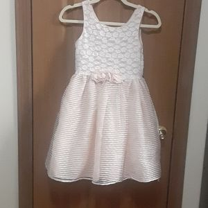 Sweet Heart Rose size 12 peach sparkle party dress